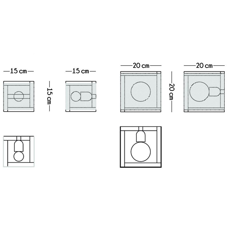 cube aplic croquis medidas